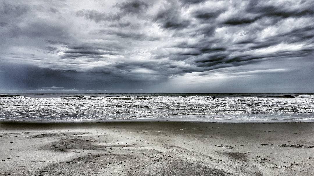 the beach after rain